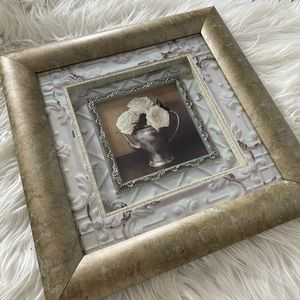 Shadow Box Floral Picture